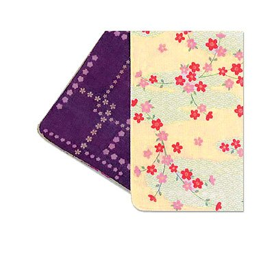 Double-faced Gauze Handkerchief Wave Crest & Cherry Blossom