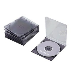 Slim CD/DVD Single Case (Set of 10) (CCD-017BK)