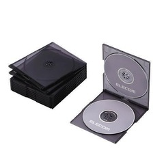 Slim CD/DVD Double Case (Set of 10) (CCD-017DCBK)