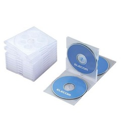 Standard CD/DVD 4-Disc Case (Set of 10) (CCD-030FCBK)