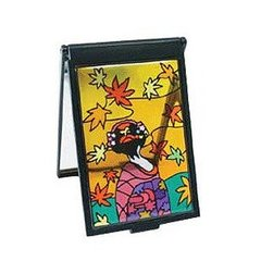 Maiko Stained Glass Like Mirror Autumn Leaves