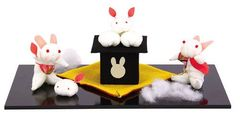 Rabbit & Rice-Cake Antique Cloth Decoration