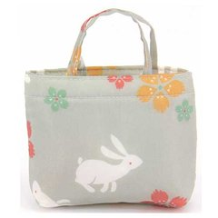 Rabbit & Dianthus Pattern Eco Bag