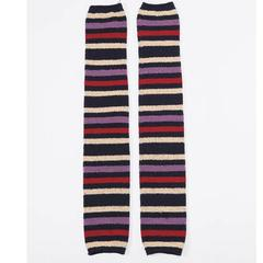 Horizontal Stripe Pattern Leg Warmers
