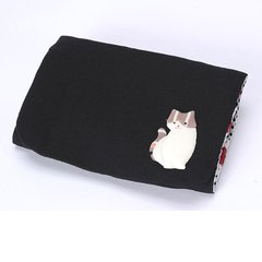 Pill Case (partly made of antique kimono cloth) Kitty