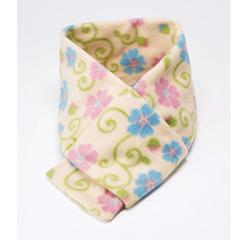 Confederate Rose Pattern Fleece Scarf With Loop