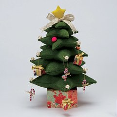 Chirimen Christmas Tree (Green)