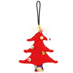 Christmas Hanging Decoration (partly made of antique kimono cloth)