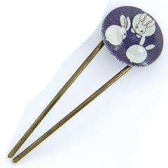 Yumekomachi Hair Stick (Kanzashi) Kyogen Rabbit