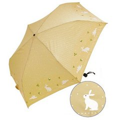 Amekomachi Folding Umbrella Rabbit and A Drop beige