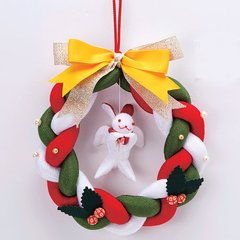 Chirimen Rabbit Christmas Wreath
