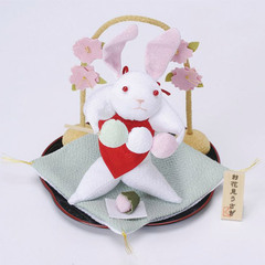 Rabbit and Cherry-Blossom Viewing on the Round Tray