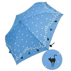 Amekomachi Folding Umbrella Cat and Flower