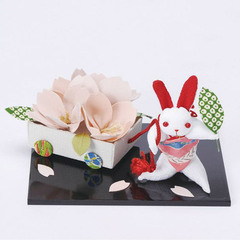 Antique Fabric Rabbit and Flower Car