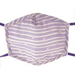 Fashionable Gauze Mask Purple Stripe