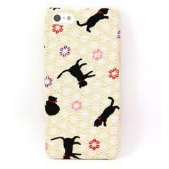 Chirimen Cat Pattern iPhone 5 Case