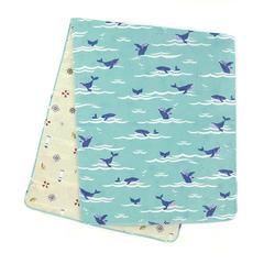 Double-Sided Gauze Hand Towel (Tenugui) / Marine