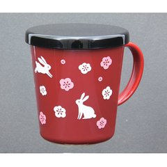 Rabbit Pattern Plastic Cup with Cover