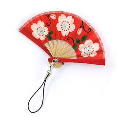 Cherry Blossom Pattern Folding Fan Strap