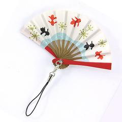 Goldfish Pattern Folding Fan Strap