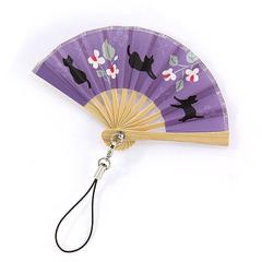 Cat and Dokudami Pattern Folding Fan Strap
