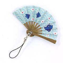 Chidori Pattern Folding Fan Strap