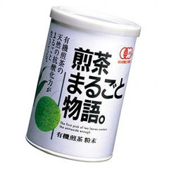 "Organic Sencha ""Marugoto Monogatari"" Paper Canned Tea 40g (Japanese Green Tea)"