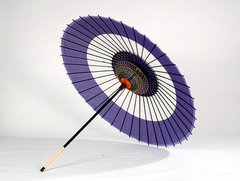 Snake Eye Pattern Silk Parasol
