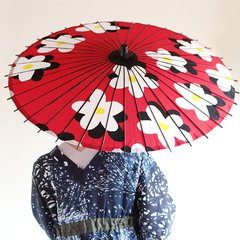 SOU SOU & Hiyoshiya Collaboration Japanese Umbrella (Rain & Shine)  Flower