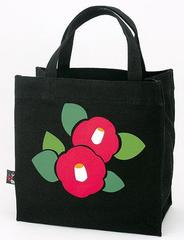 Camellia Pattern Canvas Tote Bag (square type)