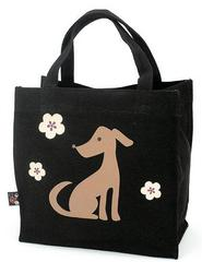 Dog Pattern Canvas Tote Bag (square type)