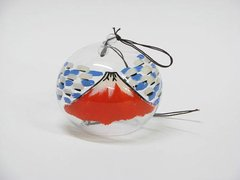 Edo Furin (Wind Bell) Red Fuji Mountain