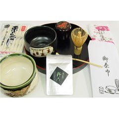 Matcha (Powdered Tea) and Tea Utensils for Tea Ceremony