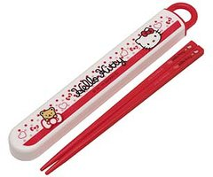 Hello Kitty (Bear & Ribbon)/ Dishwasher Safe Chopsticks Case (Slide Open Type)