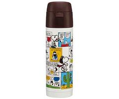 Snoopy Stainless Bottle w/ Built-In Straw 350ml