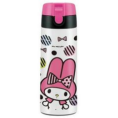 My Melody (Ribbon Pattern) One-Touch Stainless Mug Bottle w/ Lock 350ml