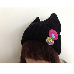 Kawaii Collection: Cat's Ear Hat (black)