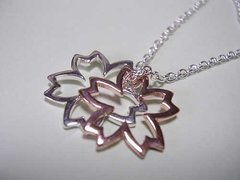 Cherry Blossom Accessory / Silver Necklace
