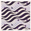 Cotton Furoshiki Wave and Crow Pattern