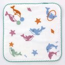Animal Days Microfiber Mini Handkerchief / Dolphin
