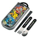 Pocket Monsters Best Wishes 2013 Dishwasher Safe Trio (Chopsticks, Spoons and Forks) Set (Slide Open Type)