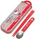 Hello Kitty (Bear and Ribbon) Dishwasher Safe Trio (Chopsticks, Spoons and Forks) Set (Slide Open Type)