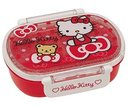 Hello Kitty(Bear & Ribbon)/Dishwasher Safe Slim Lunch Box